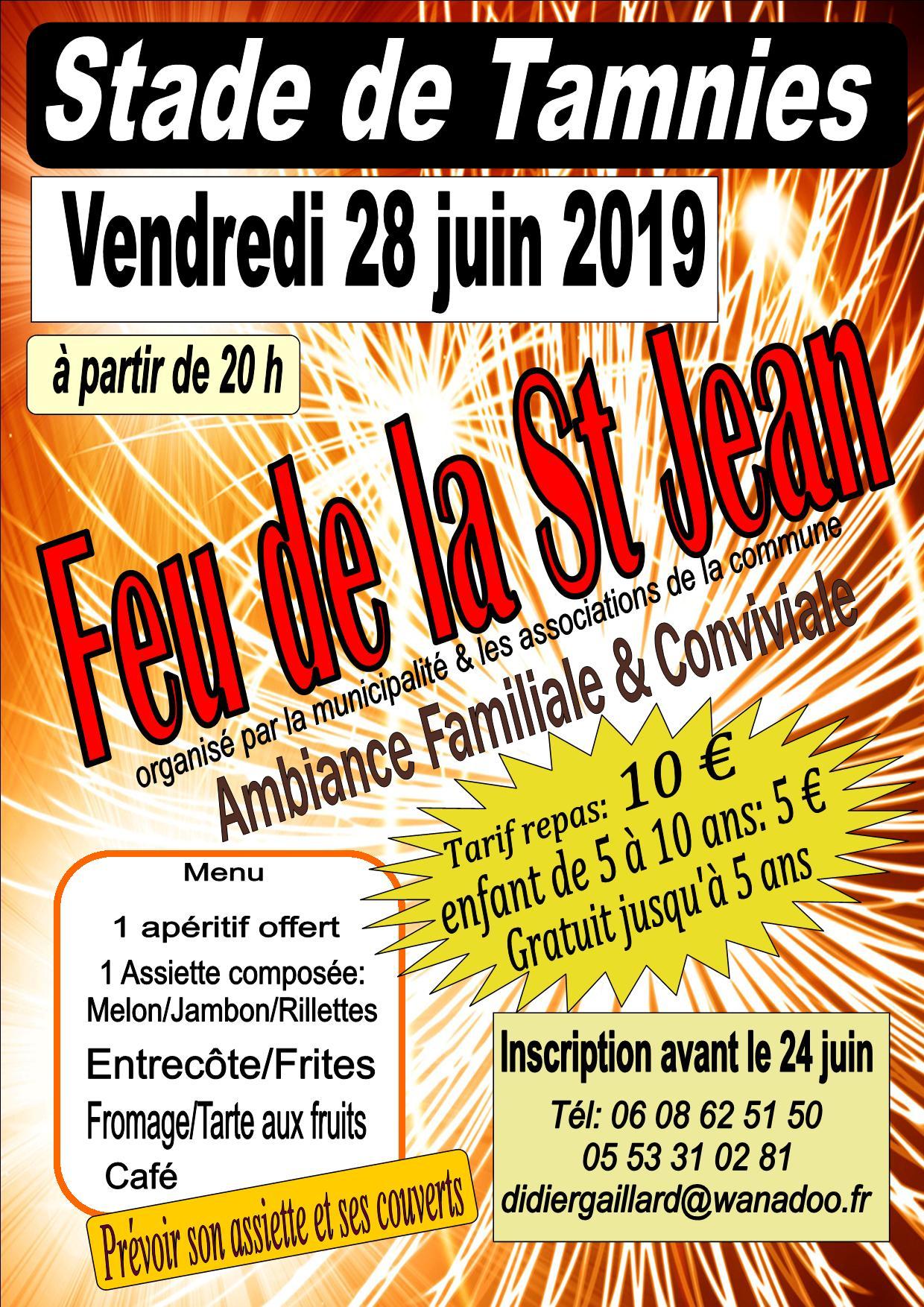 affiche feu St Jean 2019