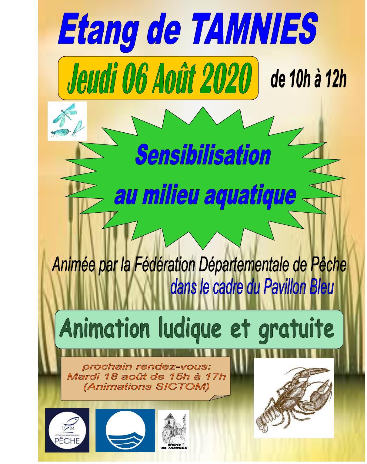 animation peche étang 6 août 2020