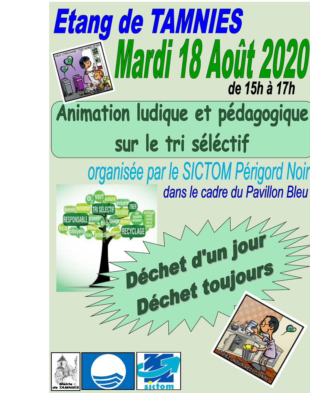 animation sictom 18 août 2020
